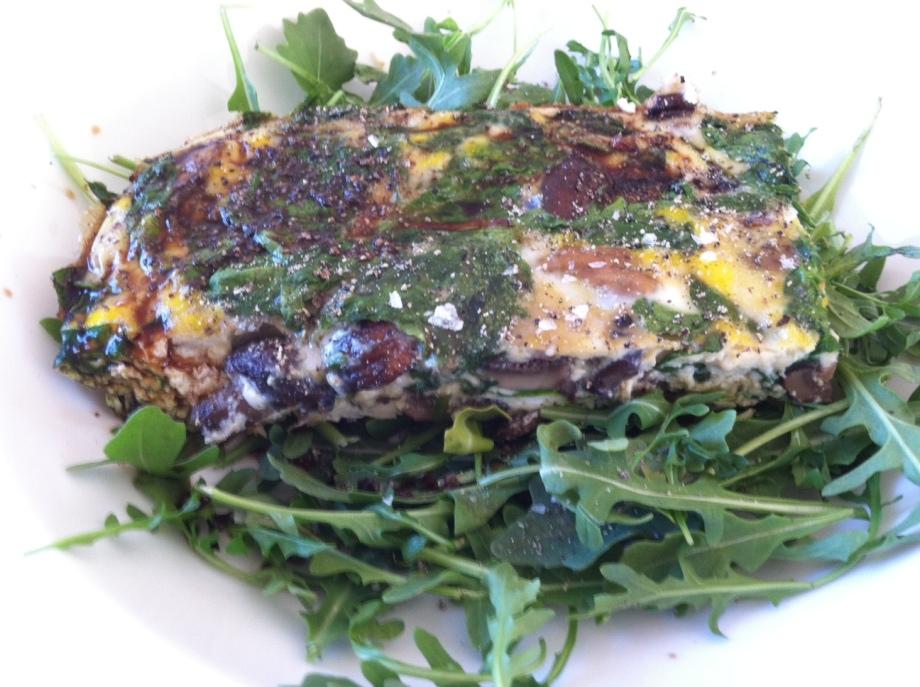 Healthy egg and veggiebake
