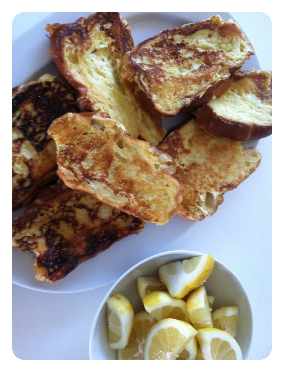 Lemony Challah French toast and a small act of kindness