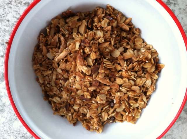 the finished granola