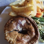 Pub food - pie and chips