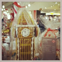 Big Ben Gingerbread house at Selfridges