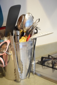 keeping kitchen equipment in a champagne bucket