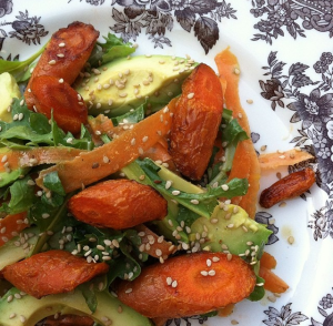 carrot avocado tahini salad